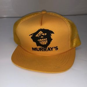 Murray's vintage Deadstock hat yellow black snap